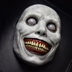 Läskig mask Skräck Halloween GRÅ GRÅ gray