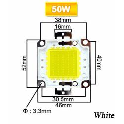 50/70 / 100W LED Chip Lamp Pärlor Integrerad COB 50W VIT