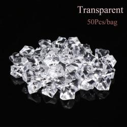 50st / påse Konstgjorda stenar Crystal isbitar småsten