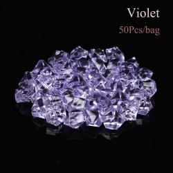 50st / väska konstgjorda stenar kristallisbitar småsten VIOLET