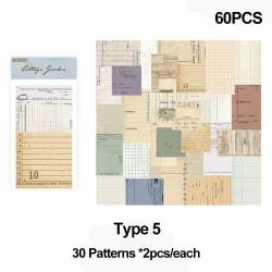 60st Klippbok Material Papper Retro blommönster TYP 5 TYP
