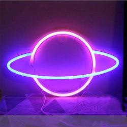 Neon Light Planet Shaped 01 01