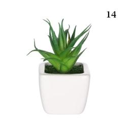 Konstgjorda mini-växter suckulenter falska blommor 14