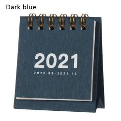 Mini Desk Calendar 2021 Kalendrar Agenda Arrangör DARK BLUE
