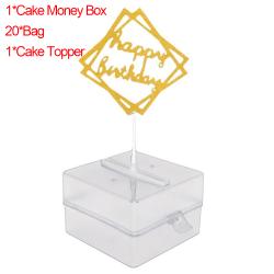 Cake ATM Surprise Money Box Cake Topper Förvaringslådor
