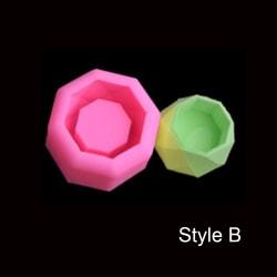 Form av kristallhartsbricka Epoxihartsform Suckulent blomkruka B