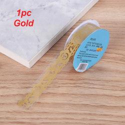 Flower Masking Tape Sticky Paper Scrapbooking Sticker GOLD 1PC