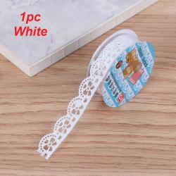 Flower Masking Tape Sticky Paper Scrapbooking Sticker WHITE 1PC