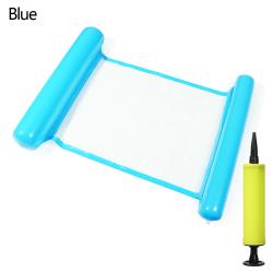 Uppblåsbar flytande rad simning flytande stol BLÅ blue
