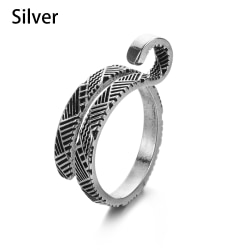 Stickning Loop Crochet Garn Guides Ring Sewing Accessories SILVER