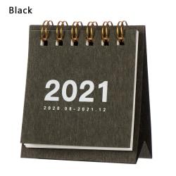 Mini Desk Calendar 2021 Agenda Organizer SVART