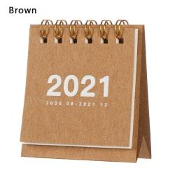 Mini Desk Calendar 2021 Kalendrar Agenda Arrangör BRUN