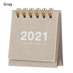 Mini Desk Kalender 2021 Agenda Organizer GRAY