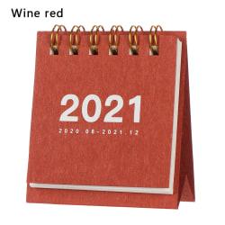 Mini Desk Calendar 2021 Agenda Organizer VIN RÖD