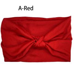 Renfärgat huvudband Knuten huvudbonad A-RÖD A-RÖD A-Red