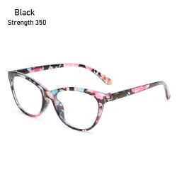 Läsglasögon Anti-blå ljusglasögon SVART STYRKA 350 Black Strength 350