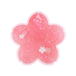 sakura coaster cherry blossom coaster glitter coaster