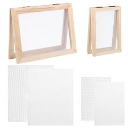 Träpappersframställning av ramramsats 5x7 tum och 7,5 x 9,8 tum duplex