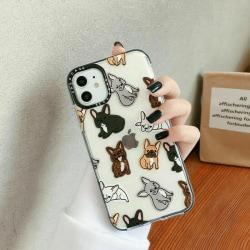 Cute Dogs Cartoon Phone Case för iPhone 11 Pro Max XR 8 7