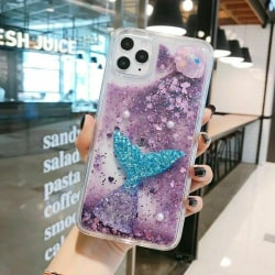 Glittertelefonfodral till iPhone 11 12 Pro Max 8 7 Plus Purple,For iPhone XS MAX