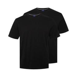 Ekologisk bomull 2-pack Basic T-shirt Black L