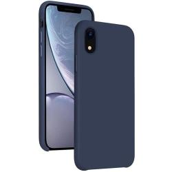 Silikonskal till iPhone XR - Mörkblå Blå
