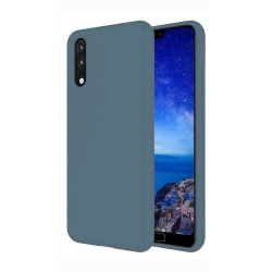 Huawei Y6 2019 Skal Gråblå Silikonskal Blå