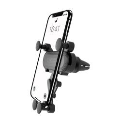 XO® Bilhållare Automatisk mobilhållare för ventilationen  Svart