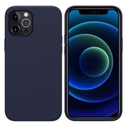 Silikonskal till iPhone 12/12 Pro - Mörkblå Blå