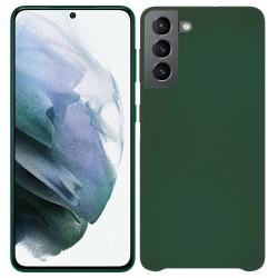 Samsung Galaxy S21 Silicone Case Navy Green Silikonskal Grön