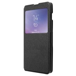 Samsung Galaxy S10E Smart Plånboksfodral Fönster - Svart Svart