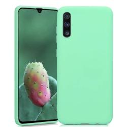 Samsung Galaxy A70  Silicone Case - Mint Silikonskal Grön
