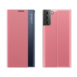 Samsung Galaxy S21 Plus Smart View Flip Cover Fodral - Rosa Rosa