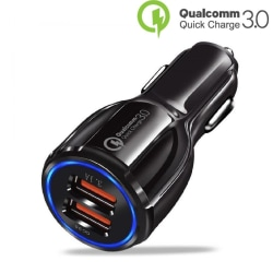 Billaddare Universal 35W Quick Charge 3.0 iPhone/Android Svart