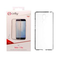 Celly Nokia 7 Plus Skal - Gelskin Cover Svart