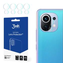 4-Pack 3MK FlexibleGlass Xiaomi Mi 11 5G Linsskydd Kamera Transparent