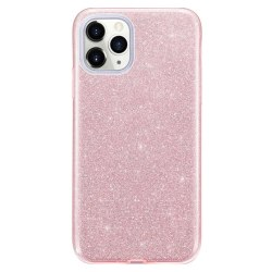 Glitter Skal för iPhone 12/12 Pro - Roséguld Rosa