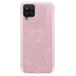 Glitter Skal för Samsung Galaxy A12  - Roséguld Rosa guld