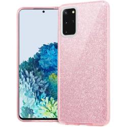 Glitter Skal för Samsung Galaxy S20 Ultra - Rosa Rosa