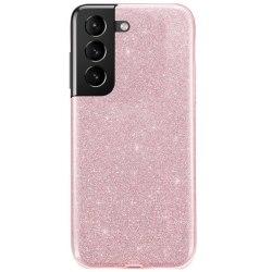 Glitter Skal för Samsung Galaxy S21 - Roséguld Rosa guld