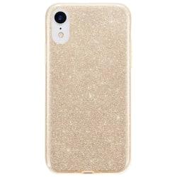 Gradient Glitter 3i1 Skal för iPhone XR - Guld Guld