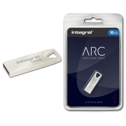 Integral ARC USB-minne 16GB, Slim Metal