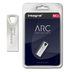 Integral ARC, USB-minne 64GB, Slim Metal