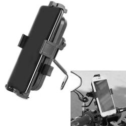 Mobilhållare till MC Moped, Universell Fästs på Backspegel Svart