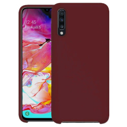 Samsung Galaxy A70  Silicone Case - Burgundy Silikonskal Röd