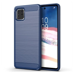 Samsung Galaxy Note 10 Lite Skal Carbon Series - Navy Blue Blå