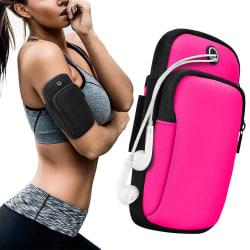 Sportarmband iPhone/Android Vattentät - Rosa Rosa