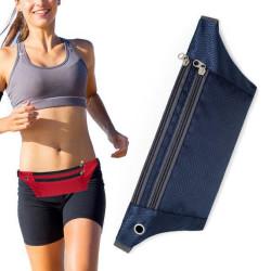 Sportbälte med förvaring för löpning - iPhone/Android -  Blå Blå