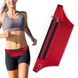 Sportbälte med förvaring för löpning - iPhone/Android -  Röd Röd