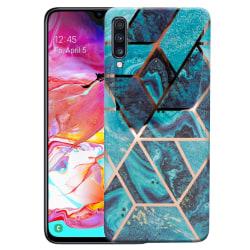 uSync™ Samsung Galaxy A70 Skal - Geometric Marmor Transparent